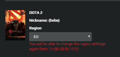 The matchmaking region you have queued for is offline